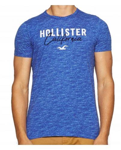 Hollister California Męski T-Shirt Laguna Logo Haft
