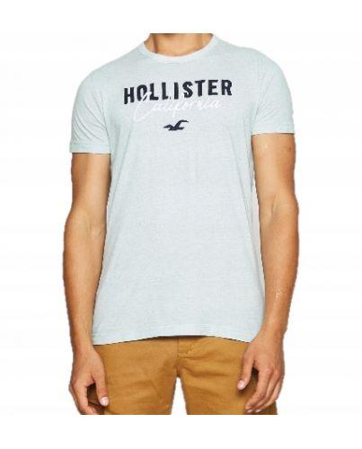 Hollister California T-Shirt Logo Haft  Green Blue