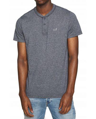 Hollister Navy-Grey Texture T-Shirt Guziki