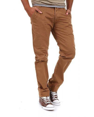 Jack & Jones Chinosy RegularneBrązowe Spodnie Męskie Proste Nogawki